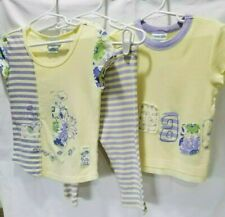 NAARTJIE NWT Size 4 Cleo Yellow & Periwinkle Blue 100% Cotton 3PC Top Capri Set