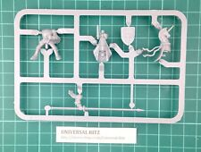 Warhammer AOS Bretonnia Knight Lance Shield Heads Rider D on Sprue RARE OOP W24