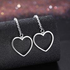 Elegant 925 Sterling Silver Filled SF Woman Heart Dangle Earrings E-A691 gift