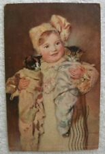 1905 Three Kitties, Little Girl Holding 2 Kittens, Chicago-Carbondale R.P. O. pc< 00004000 /a>