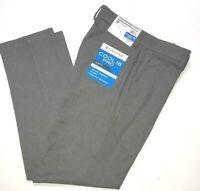 Haggar Cool 18 Pro Golf Pants Slim  Super Flex Waist 4-Way Stretch Heather Gray