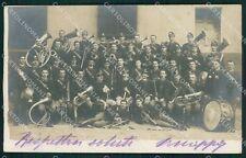 Cuneo Savigliano Banda Musicale Militari foto cartolina QK9215