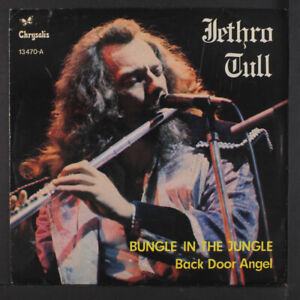 "JETHRO TULL: bungle in the jungle / back door angels CHRYSALIS 7"" Single"