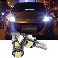 2X Front Side Light Bright White Canbus LED Bulbs 501 T10 For VW Golf MK 4 MK 5