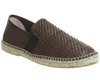 Mens Poste Felice Espadrilles Brown Woven Casual Shoes