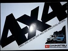 Daihatsu Fourtrack Brochure Circa 1980