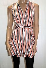 Angel Biba Brand Women's Pink Striped Halter Twist Back Dress Size 8 BNWT #TO99