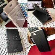 iPhone 6 & 6S Case Genuine WD White Diamonds Swarovski Crystals Wallet Black
