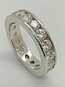 18ct White Gold 2.00ct Full Eternity Certified Diamond Ring