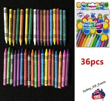 36pk Crayons With Sharpener Assorted Vibrant Colors Kids Non-toxic 10cm