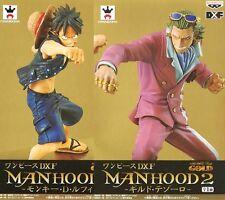 ONE PIECE FILM GOLD FIGURE MANHOOD 2 SET MONKEY.D.LUFFY VS GILD TESORO BANPRESTO