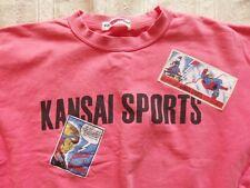 VINTAGE Kansai Yamamoto Sports Unique Comic Design Sweat Shirt Pink Retro Unisex