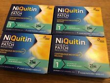 Niquitin Clear 21 Mg Nicotine Patch Step 1 7 Clear Patches X 4 Boxes Brand New