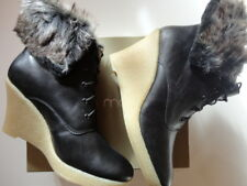Mellow Yellow bottines Low boots en cuir noir Kafka 39 Neuves