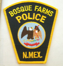 BOSQUE FARMS NEW MEXICO  POLICE  FABRIC PATCH