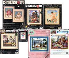 Choice: Vintage Dimensions Crewel Embroidery Kits Bears • Flowers • Sioux Family