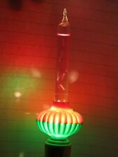 C6 Purple Noma Biscuit Christmas Bubble Light Glass Slug Tested Working 1940's