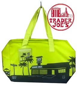 NEW 🔥 Trader Joe's  Insulated Reusable Shopping Bag 8 Gallons Green 🔥 joes