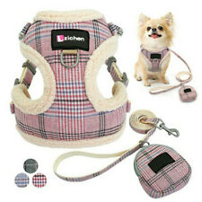 Small Dog Harness Vest & Lead Winter Fleece Padded Cat Pet Clothes Chihuahua Pug