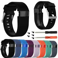 Replacement Silicone Watch Band Strap Kit for Fitbit Charge HR Tracker Wristband
