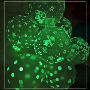 "12""Glow in the Dark Skull/Star Balloons Birthday night pub Party Halloween Decor"