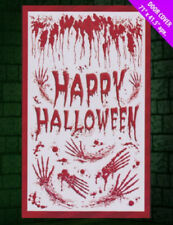 "Halloween Door Cover - ""Bloody Happy Halloween"""