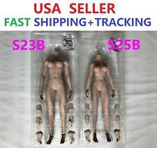 """IN STOCK NEW GIRL TYPE PHICEN S25B 1/6 Seamless SHORTER BODY 10.9"""" SUNTAN M Bust"""