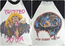 Vintage Mens XS/S 1984 Twisted Sister Stay Hungry Tour Concert Raglan T-Shirt