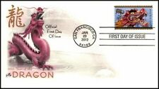 2012 YEAR OF THE DRAGON ~ ART CRAFT CACHET FIRST DAY COVER