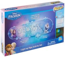 Disney Frozen Make Your Own Light up Personalised Bedroom Sign Room Wall