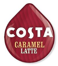 8 x Tassimo Costa Caramel Latte Loose T Discs Pods - 4 Large Drinks 310ml Cups