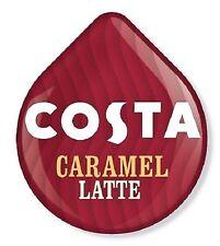 8 x Tassimo Costa Caramel Latte T Discs Pods Sold Loose 8 T Discs 4 Large Drinks