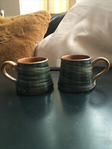 Wold X 2 Hand Thrown Pottery Mugs Beverley, Yorkshire