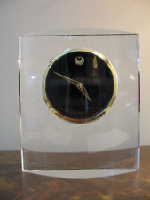 Movado Museum Dial in Ovoid Crystal Stand for Table Top Item MCL000200M