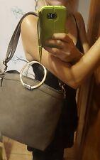 Borsa color fango manici anello media secchiello regalo x S. Valentino bag