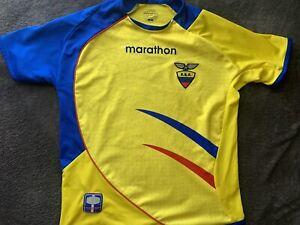 Ecuador FEF International Futbol Soccer Team Boys Jersey, Youth Size 6