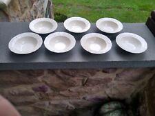 7 American Traditional Ironstone Canonsburg Pottery Dessert Bowls
