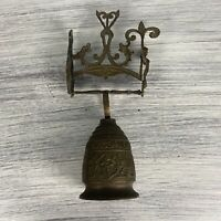 Vtg Monastery Bell Vocem Meam Audi Metal Angel Wall Mount Bell (Read)