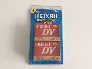 Maxell MiniDV Mini DV 4-Pack 60 Minutes Digital Video Cassettes 4 Camcorders.  N