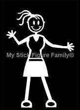MY STICK FIGURE FAMILY Car Window Bumper Vinyl Decal StIckers F15 Adult Female