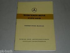 Betriebsanleitung Instruction Manual Mercedes Benz W 120 Type 180D 180 D, 8/1957