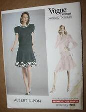 VINTAGE SEWING PATTERN VOGUE 2066 MISSES' DRESS ALBERT NIPON SIZE 14