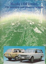 Mazda 1300 Estate 1974-75 UK Market Foldout Sales Brochure Familia
