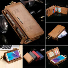 Retro Leather Business Wallet Card Cash Purse Bag Case Shell For Samsung &iPhone
