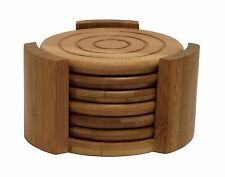 Lipper 8833 Bamboo Collection 7-Piece Coaster Set - NEW FREE SHIPPING