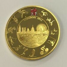 2012 London Olympics Gold Plated Five Pound Proof Coin - £5  6