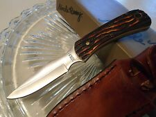 Schrade Uncle Henry Caping Boning Full Tang Skinner Knife Stagalon 301UH Leather