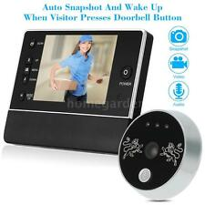 "3.5"" LCD Digital Peephole Viewer 120° Door Eye Doorbell Video IR-CUT Camera W8R7"