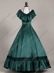 Victorian Southern Belle Old West Ball Gown Vintage Fairytale Dress 127 XXXL