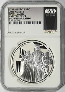2016 Star Wars Darth Vader Silver $2 Niue NGC PF70UCAM Early Releases
